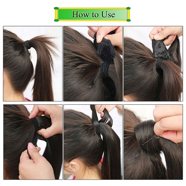 Long wavy Clip In Hair Tail False Hair Ponytail Hairpiece