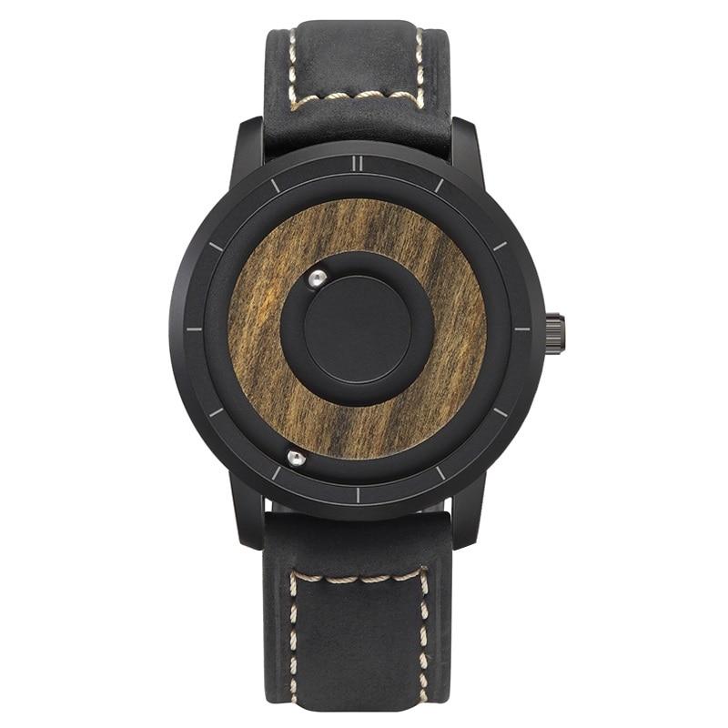 EUTOUR  Magnet Watches 2019 men watch women watches fashion Casual Quartz Watch Simple Men Minimalist Wooden dial 9