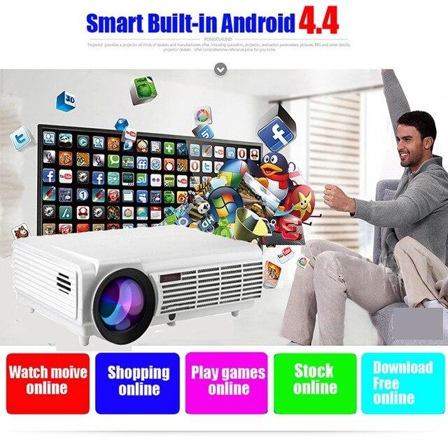 5000 Люмен Профессиональный Домашний Кинотеатр СВЕТОДИОДНЫЙ Проектор с WXGA 1280*800 P HDMI/VGA/AV/S-видео Android Wi-Fi Проектор
