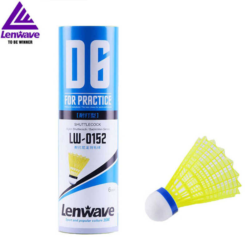 Professional Badminton Ball Lenwave LW-01 6Pcs Nylon Shuttlecocks Practice Accessories Durable Badminton Shuttlecock Nylon