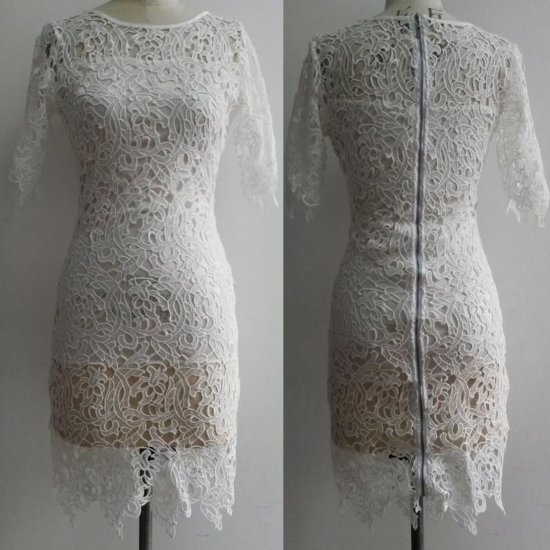 Big Plus Size Womens Brazil Yellow Crochet Lace Zip Back Closure