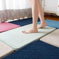 Recovery Memory Foam Carpet Absorbent Bath Fleece Mats Non slip Parlor Door Floor Rugs Doormats