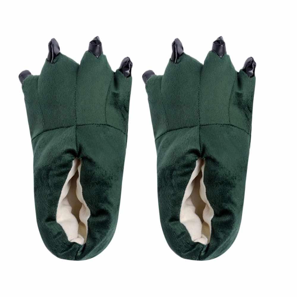 חדש ילד תינוק חורף חם מקורה כפכפים מצחיק בעלי החיים Paw מפלצת טופר נעליים אנטי להחליק רצפת נעליים חמוד wfy1014 נעליים