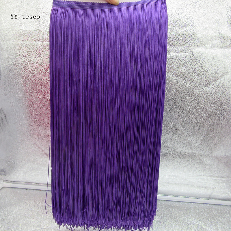 10 Meters 50CM Long Lace Fringe Trim Tassel purple Fringe Trimming For Diy Latin Dress Stage Clothes Accessories Lace Ribbon