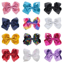 8 Inch Super Bow Hairpin Giant Glitter Sparkly Rhinestones Larger Big Grosgrain Ribbon Hair Bows Alligator Hair Clips big bow toddler hair clips glitter pink covered metal alligator hair clip pink blue colorway children gift teeth claw head wear