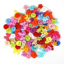 50-100 шт Высокое качество смешанные пластиковые пуговицы для шитья, для скрапбукинга швейные принадлежности для шитья 10 мм-23 мм