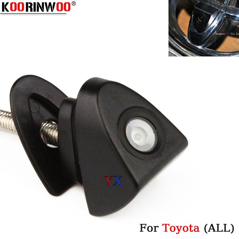 Автомобильная фронтальная камера Koorinwoo HD CCD с логотипом для Toyota/Corolla/Highlander/Camry, широкоугольная безопасная камера для парковки автомобиля