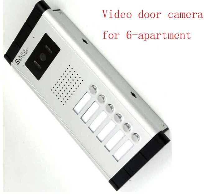 SMTVDP Apartment Video Door Phone Camera Intercom IR Night Vision Doorbell for 6 Units Apartment Suitable 6-Stories Building
