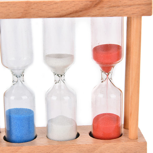 Online Shop 1/3/5 Minutes Wood Frame Sand Glass Hourglass Sand Timer ...