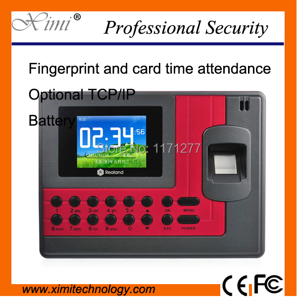 цена на Good quality fingerprint time attendance time clock with TCP/IP and free software, optional back up battery and access control