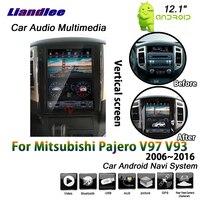Liandlee 12,1 дюйма для Mitsubishi Pajero V97 V93 2006 ~ 2016 Android 2 + 32G вертикальный Экран gps Navi карта навигации мультимедиа