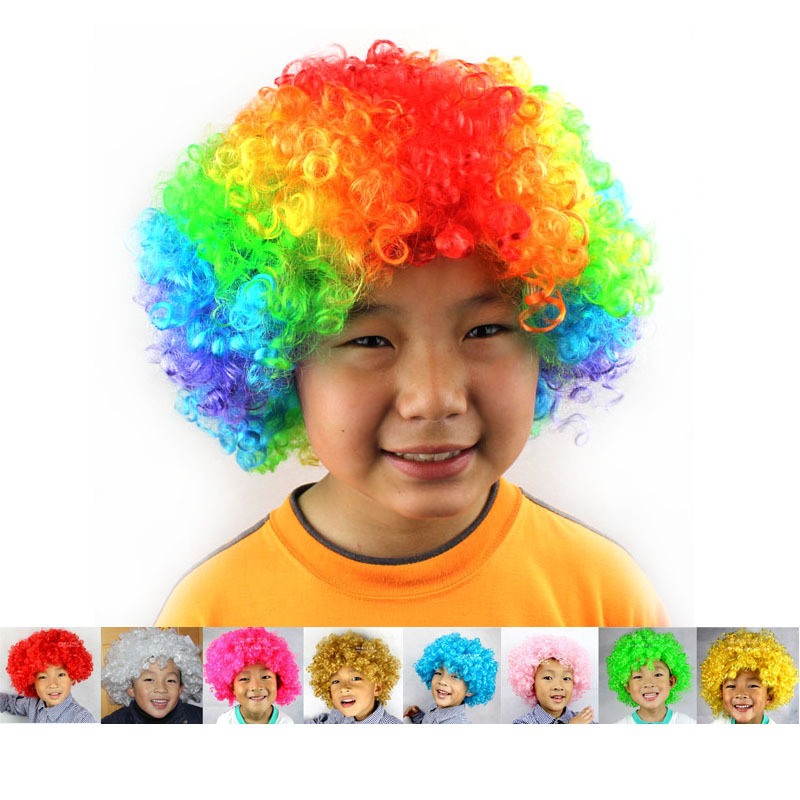 Carnival Party Wigs for Masquerade Halloween Christmas Dress Clown Costume Cosplay Football Fans Children Adult Party Hats gorros de baño con flores