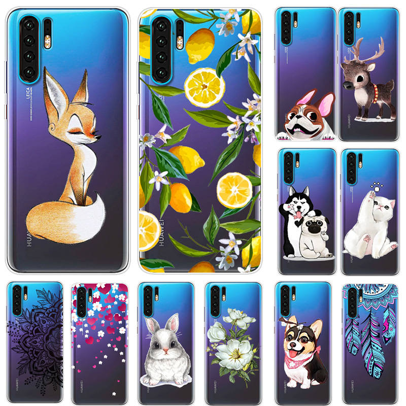 Cases For Huawei P30 Lite Phone Cover Soft Silicone Colorful Printing Back Case Cover For Huawei P30 Pro VOG-L29 ELE-L29 Fundas