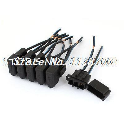 6 x Auto Vehicle Audio Inline ATC Blade Fuse Holder Black DC 12V blade style fuse holder for nissan mazda odyssey racing car black dc 12v