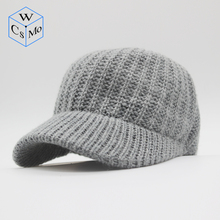 CoMs.W 2019 new unisex baseball cap cashmere blended knit