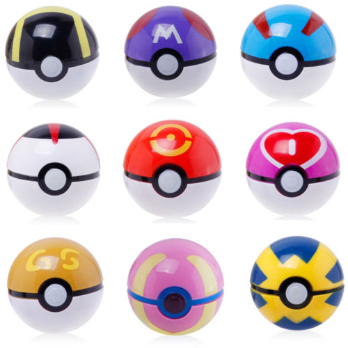 7cm Cute Pokemon Ball Pikachu Pokeball Cosplay Pop-up Poke Balls Kids Toy Gift Hot Home Decoration