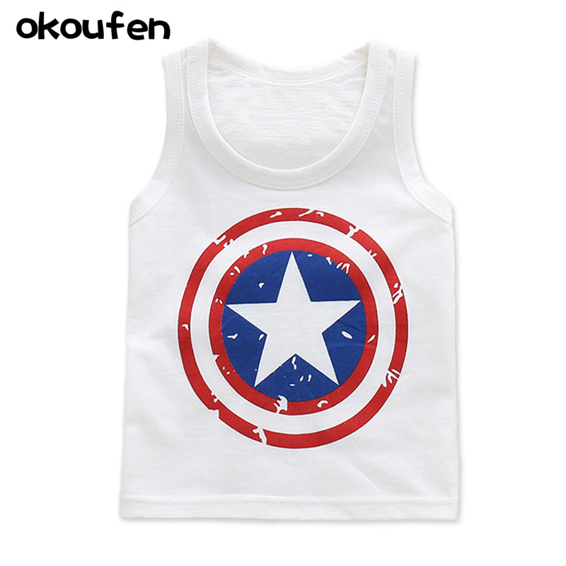 New summer baby vest shirt for boy and girl 100% cotton kids clothing tops cartoon sleeveless children tops retail