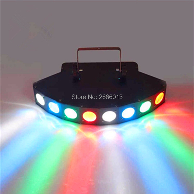 LED Eight Eyes RGBW Scan Full Color Beam Light Scanner Flash Wedding Party Laser Projector DJ
