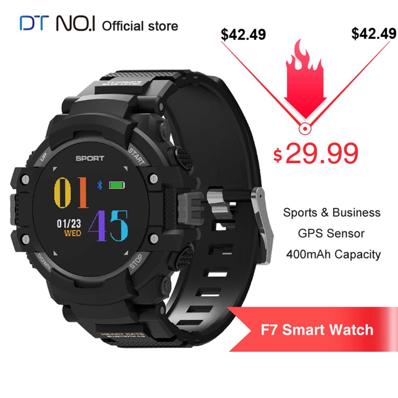 DT NO.1 F7 GPS Smartwatch Outdoor Position Smart Watch Bracelet Fitness Tracker Heart Rate Temperature Altitude Sports Men