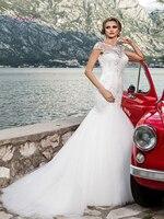 Liyuke Marmaid/свадебное платье для свадьбы 2019 г. белая юбка американка Платья с цветочным узором для девочек, вуаль, для свадьбы, размер от заказчи