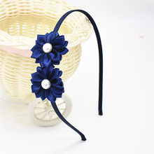 Hairband Pearl Flower Hair Accessories flower Hairbands beautiful hoop hair Princess band head of hair for girls headband hair(China)