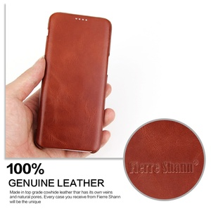 Image 5 - 100% Genuine Leanther Flip Cover Case for Samsung Galaxy S8 S8 Plus Built in Magnet Real Leather Case for SM G950F SM G955F S8+