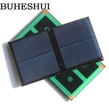 Buheshui 0.5 Вт 1 В 500ma мини Панели солнечные поликристаллический солнечных батарей модуль DIY Солнечное Батарея Зарядное устройство исследование Смола 80*45*3 мм 10 шт