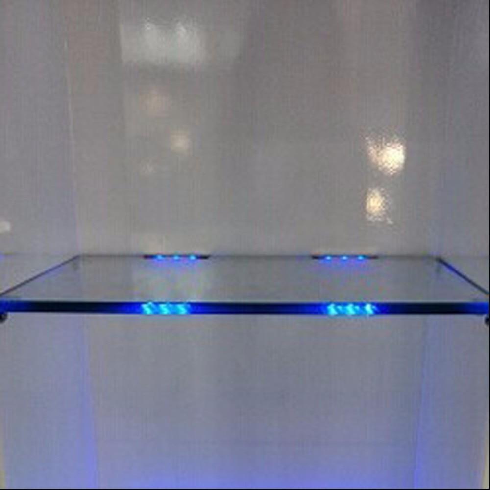aiboo onder kast led verlichting voor glas rand plank achterkant clip klem strip verlichting met afstandsbediening en plug 6 lampen kit in aiboo onder kast