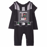 Baby Boys Darth Vader Costume Star War Infant Romper Short Sleeves Size 0 24 Months