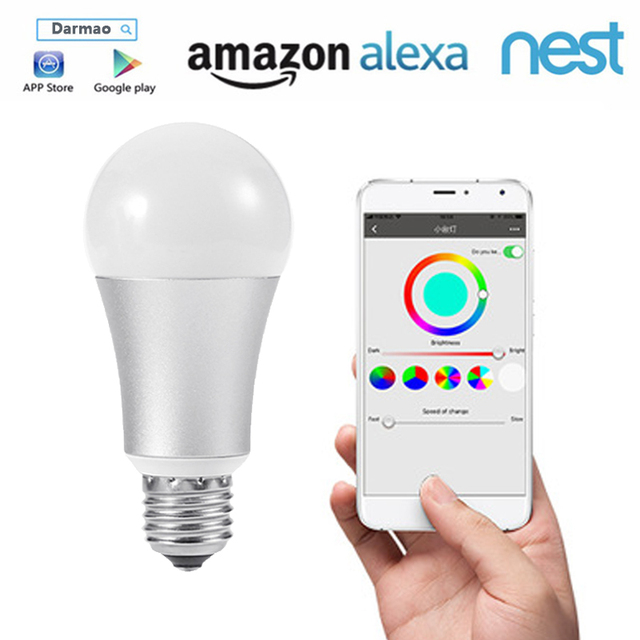 Funry Led Bulb Dimmer Wifi Smart Light Bulbs Remote Control Switch Color Changing Works With Alexa