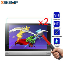 "XSKEMP 2Pcs/lot HD Screen Protector Film Tempered Glass For Lenovo Ideatab A7600 10.1"" A10-80 A7800 A3000 A7-30 A3300 A5000 Tab2"