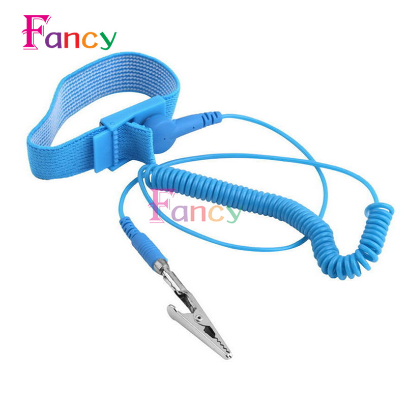 Cordless Wireless Clip Antistatic Anti Static ESD Wristband Wrist Strap Discharge Cables For Electrician IC PLCC worke anti static esd adjustable wrist strap discharge band ground bracelet electronic wristband static eliminator automatic charger