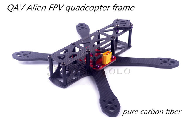 Alien FPV quadcopter frame 225 / 260mm DIY cross racing mini drone ...