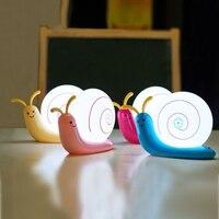 Caracol lindo 4 Colores Led de La Noche Lámpara de Mesa de Luz de Lectura USB Batería Niños de Los Niños Del Bebé Para Dormir Dormitorio Luces Lámpara Decorativa