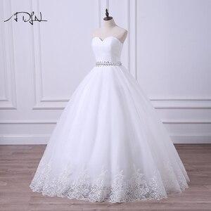 Image 3 - ADLN 2020 Ballkleid Hochzeit Kleid Robe de Mariee Elegante Echt Fotos Schatz Tulle Perlen Korsett Günstige Brautkleid Plus größe