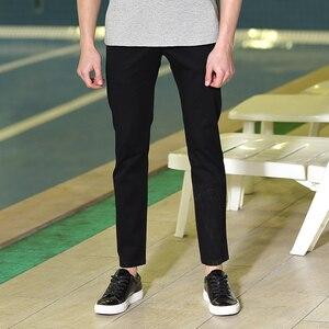 Image 4 - Мужские повседневные брюки Pioneer Camp, однотонные Стрейчевые классические брюки зауженного покроя, темно синего цвета и цвета хаки, одежда для мужчин размера плюс