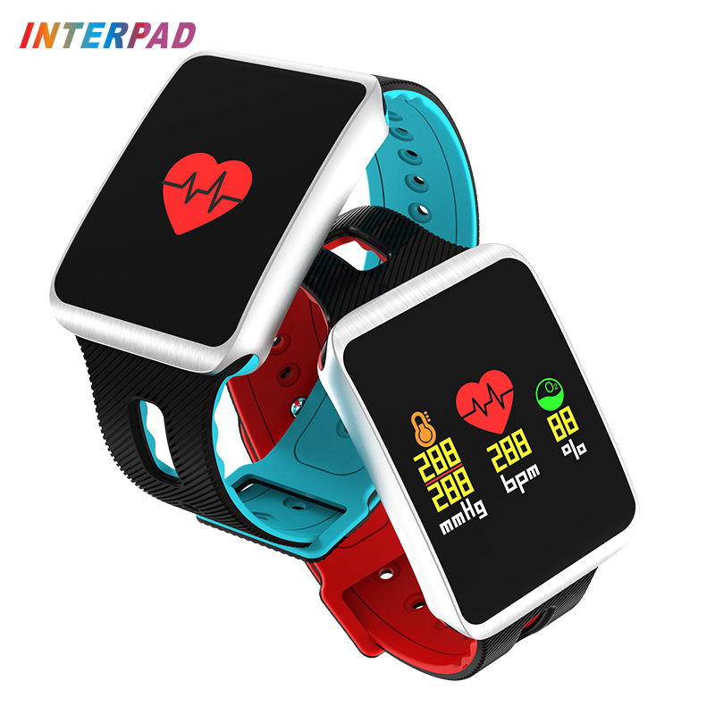 Interpad Smart Bracelet With Pedometer Heart Rate Monitor Fitness Bracelets Blood Pressure Wearable Devices For iOS Android