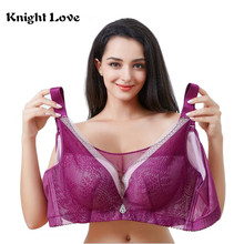 ФОТО  push up bras for women wire free lace brassiere adjusted thin full cup perfect shape women underwear plus size 34 to 50 d e cup