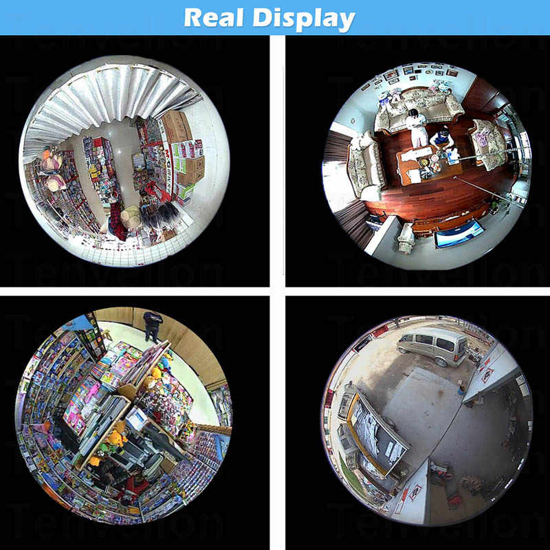 2 Pack 960P 360 Camera Panoramic Camera Camara Wifi 1.3MP 360 Cameras Bulb Camara Wifi CCTV Cameras for Android iPhone