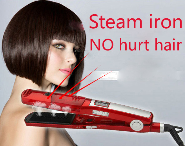 iron hair style styling tools steam straightening irons professional 6890