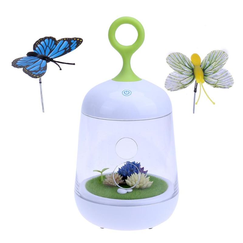 все цены на Lovely Garden LED Night Light USB Rechargeable Touch Dimmer Table Butterfly Light Portable Nightlamp for Children Baby
