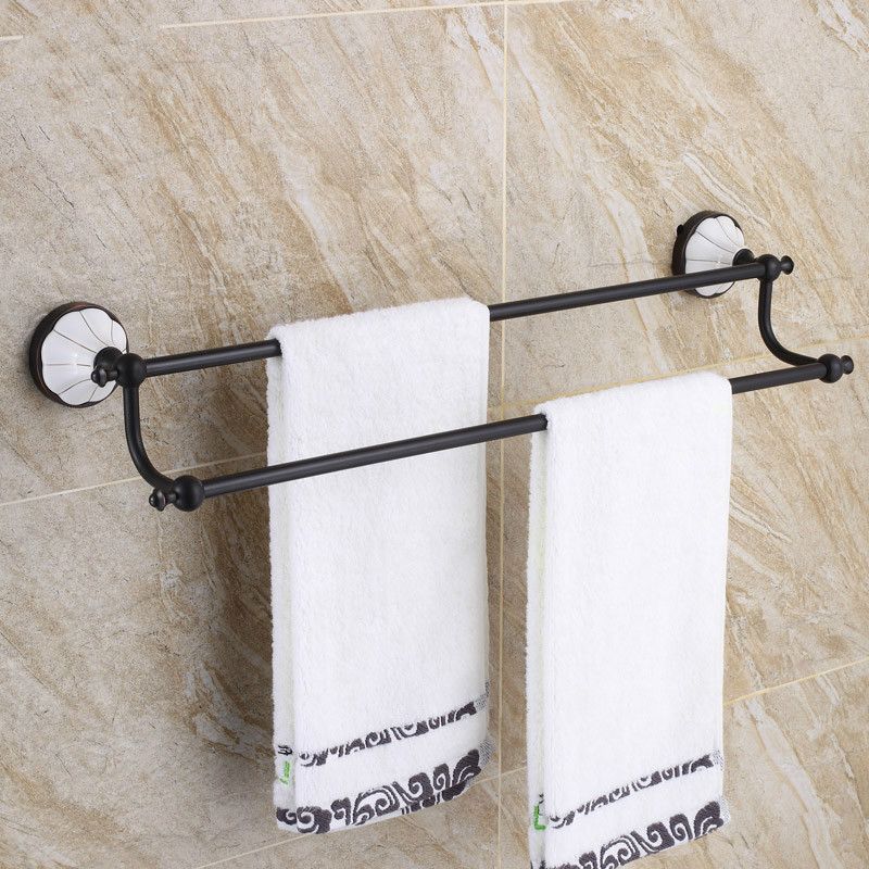 купить Copper Towel Rack Towel Rack European Style Antique Bathroom Bath Towel Bar Bathroom Pendant Black LO829548 по цене 5371.8 рублей