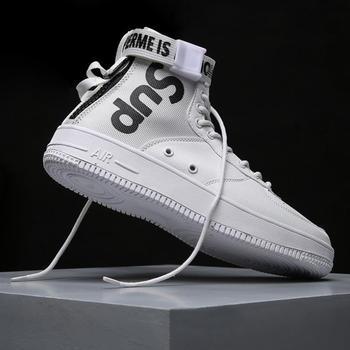 Zanvllchy/2018 высокие кроссовки, мужская повседневная обувь на шнуровке, дышащая Белая обувь, модные кроссовки, chaussure homme, zapatos hombre