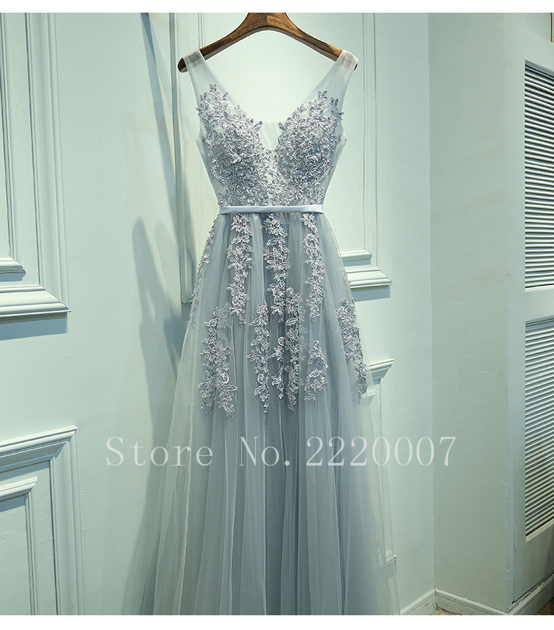 Sexy V Neck font b Bridesmaid b font font b Dress b font Floor Length Prom