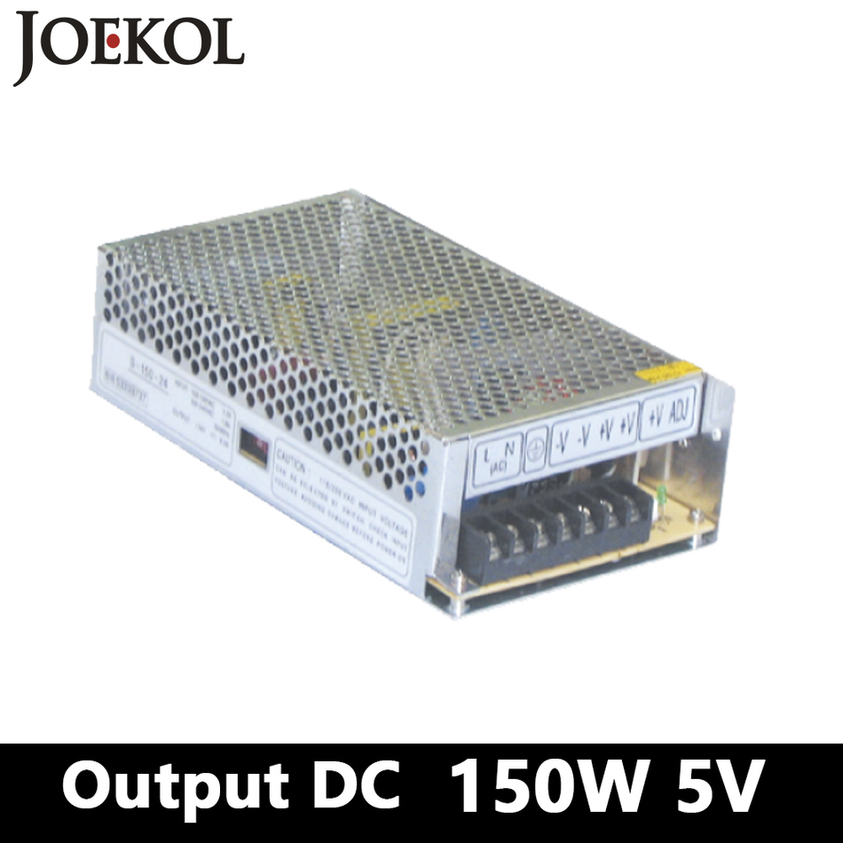 switching power supply,150W 5v 30A Single Output ac-dc power supply for Led Strip,AC110V/220V Transformer to DC 5V,led driver ноутбук lenovo ideapad 110 17acl 80um003drk