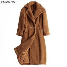 1d13854a5a 2018 new long winter warm coat teddy bear faux fur pink and leopard print  women coat with pocket