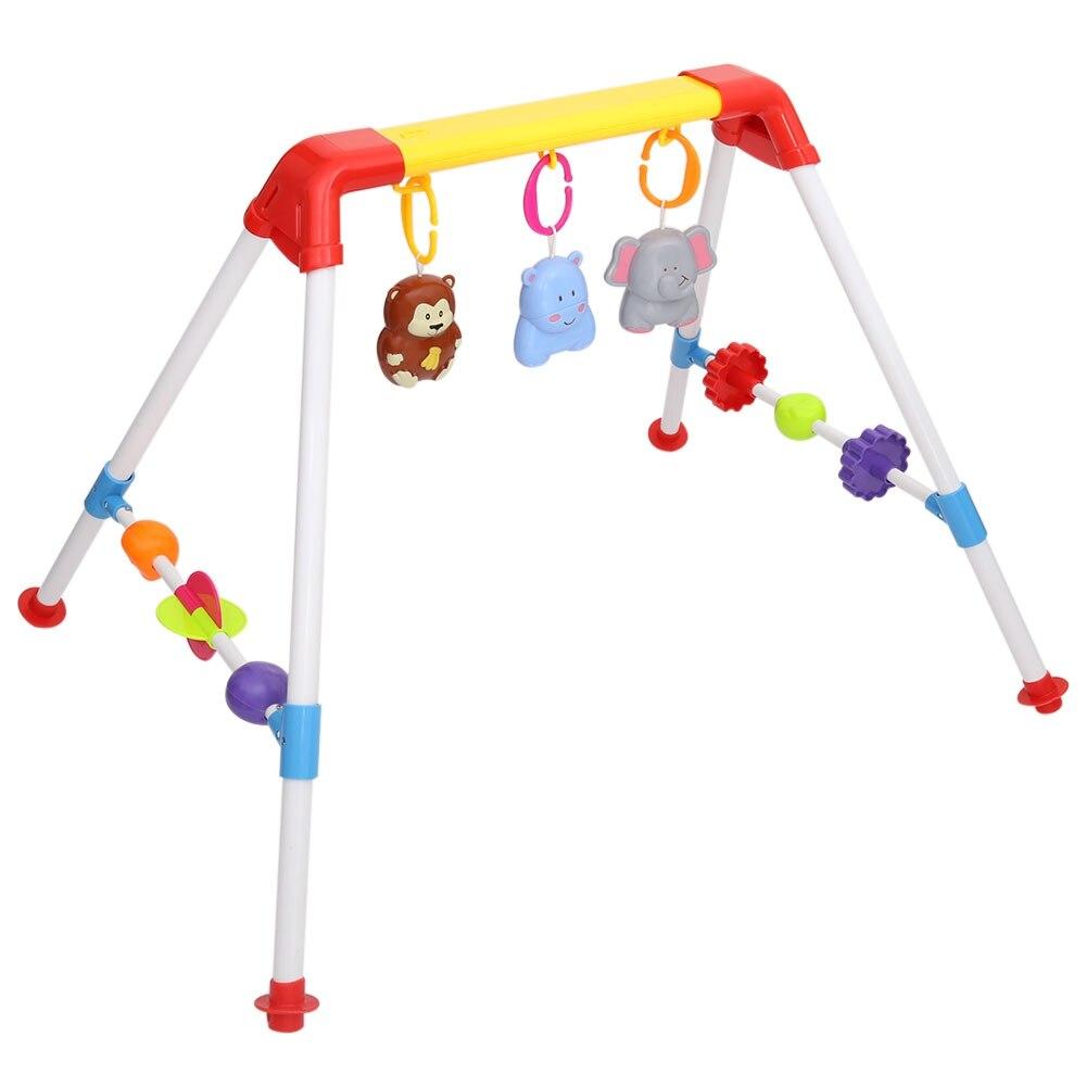 Coloré Musical Mobile hochet activité Gym développement jouet bébé cloche avec dessin animé pendentif nouveau-né cadeau apprentissage et éducation