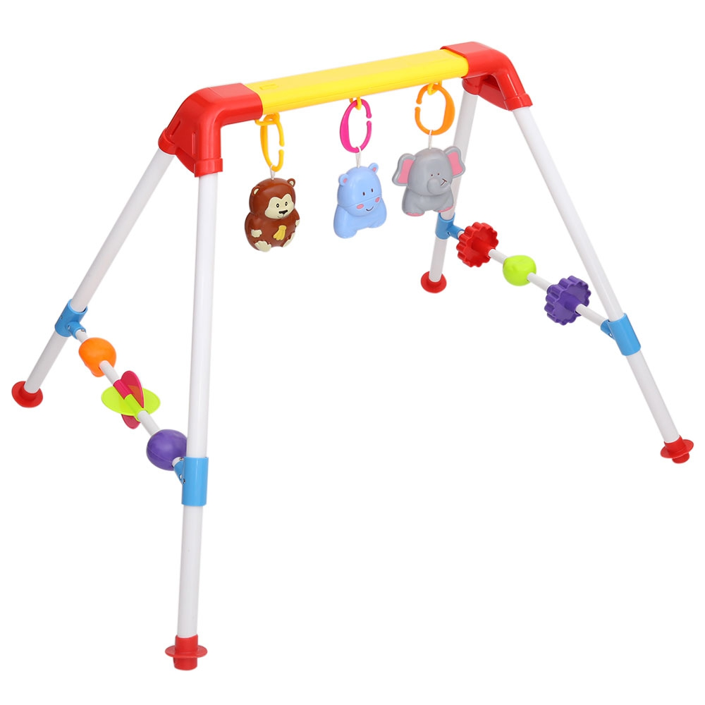 Colorful Musical Mobile Rattle Activity Gym Developmental Toy Baby Bell With Cartoon Pendant Newborn Gift Learning&Education