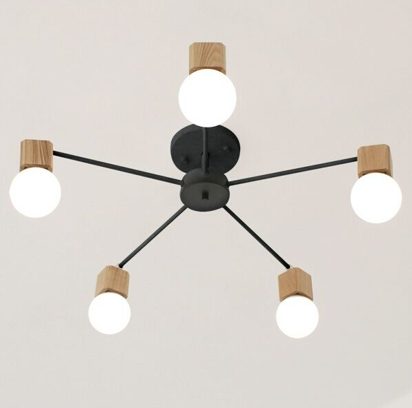 Northern Europe Wood Living Room Ceiling Light Simple Retro Bedroom Creative Fashion Wood Restaurant Ceiling Lamp Free Shipping southeast asia style creative single head wood art retro restaurant pendant light living room decoration lamp free shipping