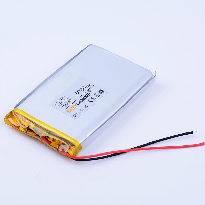 <font><b>3.7V</b></font> <font><b>5000mAh</b></font> Lithium Polymer <font><b>LiPo</b></font> Rechargeable <font><b>Battery</b></font> cells For Power bank video PSP phone PAD protable tablet PC 105080 image